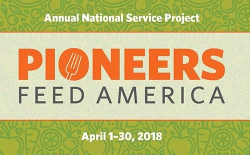 Pioneers Feed America: National Service Project