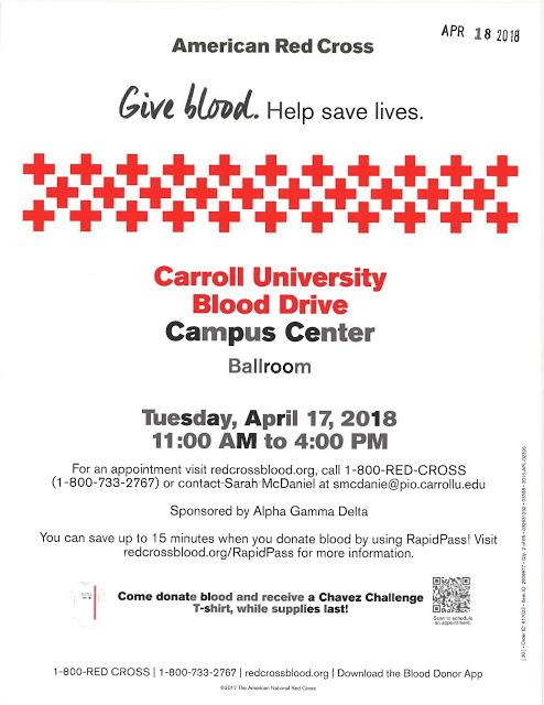Red Cross Blood Drive Sponsored by Alpha Gamma Delta
