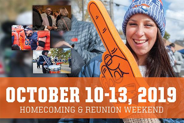 Homecoming & Reunion Weekend | October 10-13, 2019