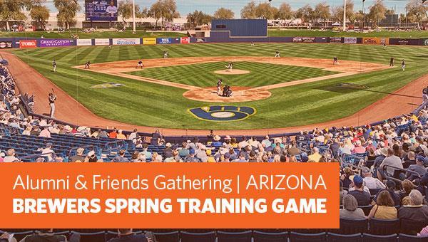 Brewers Spring Training Game in Arizona