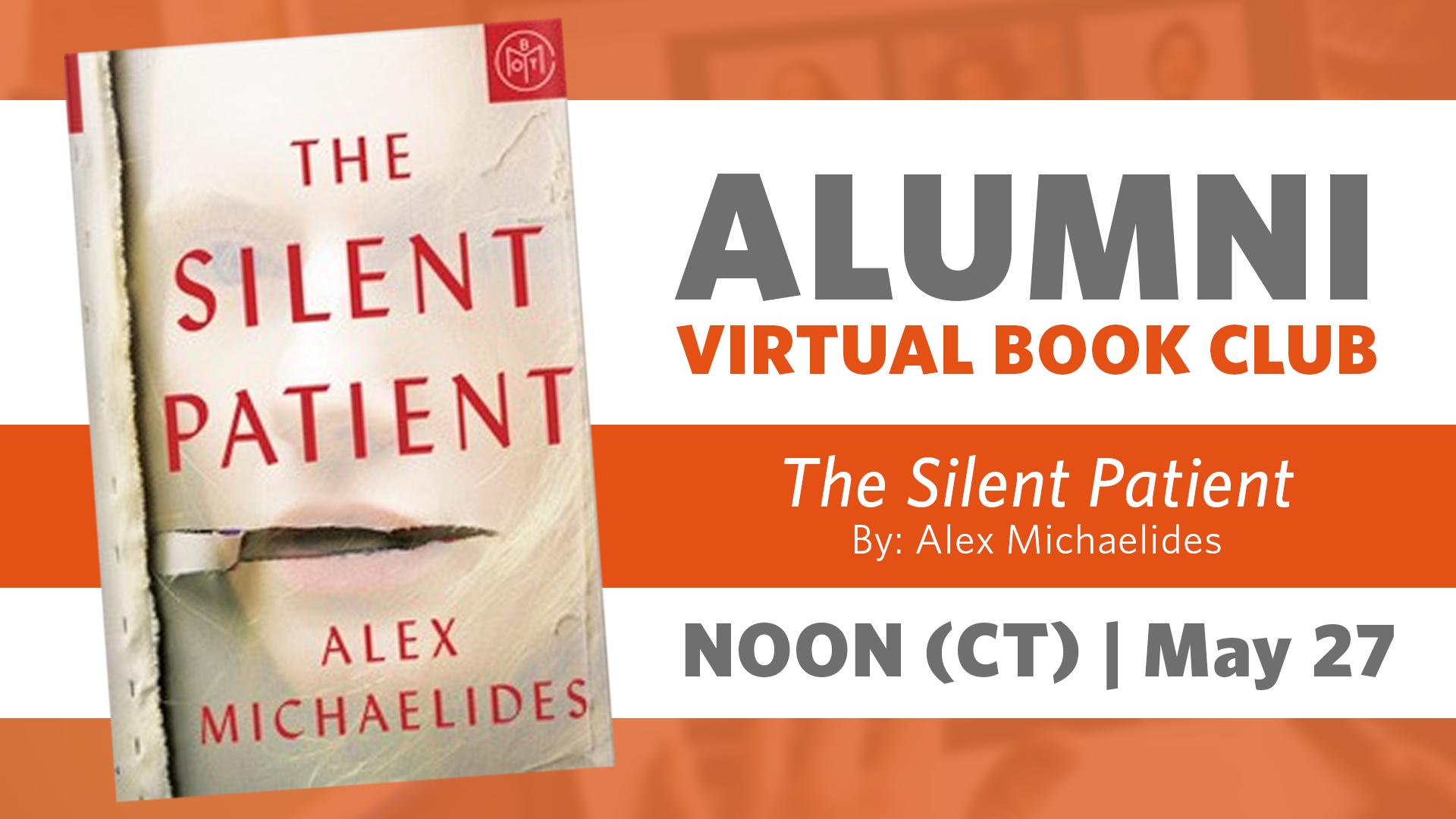 Alumni Book Club Meeting: The Silent Patient