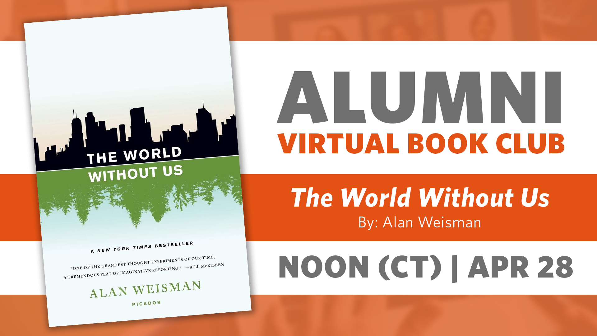 Alumni Book Club Meeting: The World Without Us